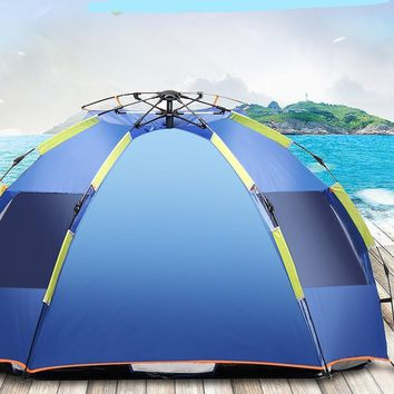 4 Person Automatic Beach Tent Pop Up Instant UV Outdoor Camping Fishing Hiking