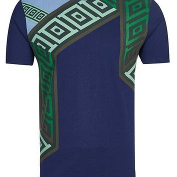 VERSACE COLLECTION T-shirt V800683S VJ00325 dark blue 100% Cotton