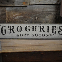 Groceries Sign