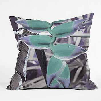 Deb Haugen Aloha Heliconia Throw Pillow