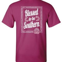 Southern Darlin Blessed to be Southern Bow Bright Girlie T-Shirt
