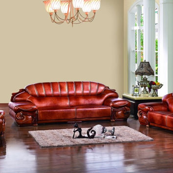 antique European chesterfield sofa set living room sofa made in China sectional sofa 1+4+chaise