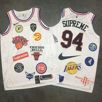 Supreme x Nike 18ss NBA Teams White Jersey Size S-XXL