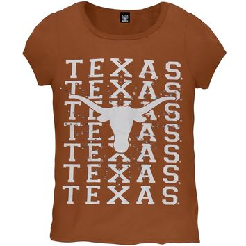 Texas Longhorns -  Rhinestone Ray Girls Juvy T-Shirt