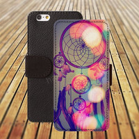 dream catcher colorful iphone 5/ 5s iphone 4/ 4s iPhone 6 6 Plus iphone 5C Wallet Case , iPhone 5 Case, Cover, Cases colorful pattern L007