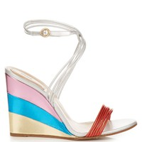 Metallic rainbow wedge sandals | Chloé | MATCHESFASHION.COM US