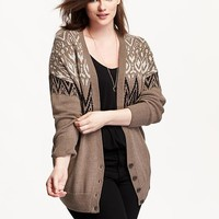 Old Navy Womens Plus Patterned Cocoon Cardigan