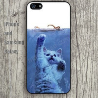 Swimming cat iphone 6 6 plus iPhone 5 5S 5C case Samsung S3,S4,S5 case Ipod Silicone plastic Phone cover Waterproof
