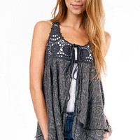 Learning to Fly Front Tie Vest $29