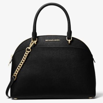 Michael Kors Emmy Large Cindy Dome Satchel Black