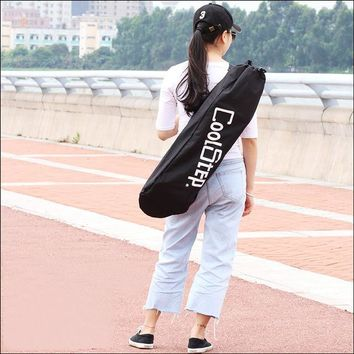 Cool Backpack school New Black Skateboard Carrying Bag 4 Wheels Skateboard Bag Skateboard Double Rocker Backpack Long Board Bag AT_52_3