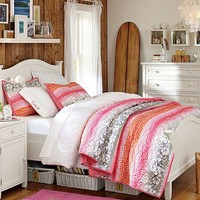 Beadboard Hibiscus Bedroom