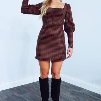 In The City Dress: Black/Brown
