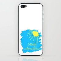 Hello Sunshine iPhone & iPod Skin by Sunshine Inspired Designs