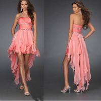 Charming Sweetheart chiffon high-low prom dress / homecoming dress - 5 colors in from Girlfirend