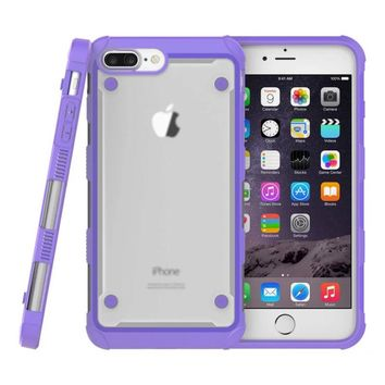 Dir-Maos For iPhone 8 Plus Case 5.5 SUPCase Beatles Strong ARMOR Shock Proof Anti Scratch Clear Panel Hard Cover Bar Protective
