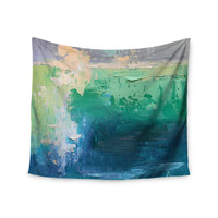 "Carol Schiff ""Sea Music"" Teal Painting Wall Tapestry"