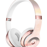 Peach Absorbed Watercolor Texture Full-Body Skin Kit for the Beats by Dre Solo 3 Wireless Headphones
