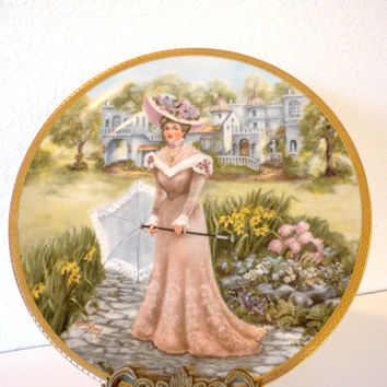 Lady Sabrina Collectible Plate, Signed by Artist, Rusty Money, RJ Ernst Enterprises