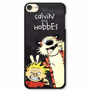 Calvin And Hobbes Black iPod Touch 6 Case