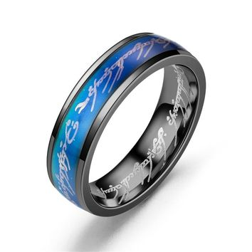 Stainless steel Men Women Punk Mood Rings Lovers Colors Change With Emotion Temperature Mood Lord Rings Jewelry