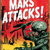 Mars Attacks Tin Sign at AllPosters.com