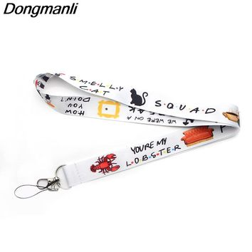 P3086 Dongmanli Friends TV Show Lanyard Badge ID Lanyards/ Mobile Phone Rope/ Key Lanyard Neck Straps Accessories