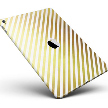 """The Golden Diagonal Stripes Full Body Skin for the iPad Pro (12.9"""" or 9.7"""" available)"""