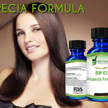 Alopecia Formula BM63 30mL, Hair Loss Supplement for Alopecia Areata, Natural Remedy for Adults & Kids, Treats Dry Brittle & Thinning Hair, Stimulates Hair Growth, For Hair Loss on Body & Face too