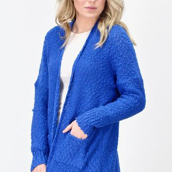 Snuggle Life Wubby Sweater Cardigan {Royal Blue}