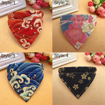 Pet Dog Collar Scarf Adjustable Printed Classic Puppy Neckerchief Bandana for Cats Dogs HG99