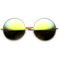 Women's Retro Metal Oversize Revo Lens Sunglasses 9752
