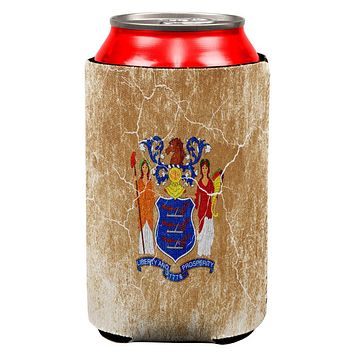New Jersey Vintage Distressed State Flag All Over Can Cooler