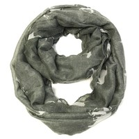 Galloping Horse Infinity Scarf - Gray