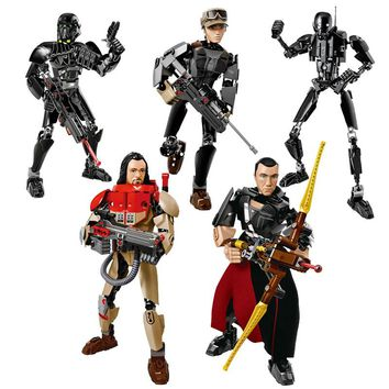 A Star Wars Story Rogue One Buildable Figure Imperial Death Trooper Sergeant Jyn Erso K-2SO Imwe Malbus Building Block Toy