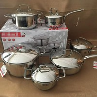 cooking pots and pans casseroles luxury frypan caucepan inox set full inox cover cooking utensil set kitchen tools