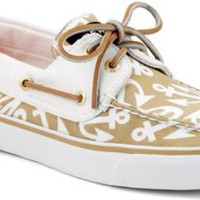 Sperry Top-Sider Bahama Anchor Print 2-Eye Boat Shoe SandAnchors, Size 12M  Women's Shoes