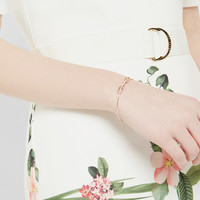Bow detail crystal cuff - Rose Gold | Jewellery | Ted Baker ROW