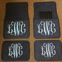 Monogram Car Floor Mats