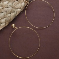 Thin Dainty Large Gold Hoop Earrings