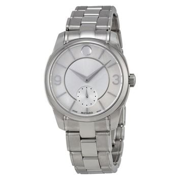 Movado LX Silver Dial Stainless Steel Ladies Watch 0606618