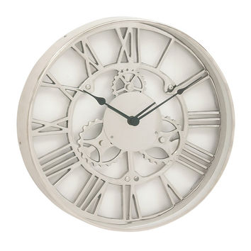 Industrial Aluminum 18-inch Round Wall Clock | Overstock.com Shopping - The Best Deals on Clocks