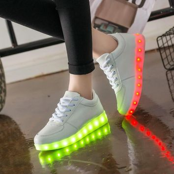 Boy&Girl Glowing USB Charger Lighted shoes for sneakers Kids Light Up shoes led Casua