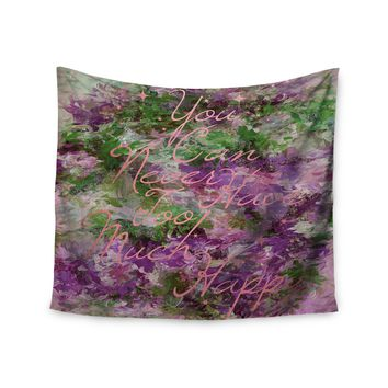 "Ebi Emporium ""Too Much Happy 9"" Purple Green Painting Wall Tapestry"