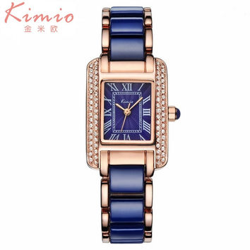 Brand Luxury Jewelry Ladies Quartz Watch Dress Fashion Casual Women Watches Roman Numerals Rhinestone Bracelets Watches