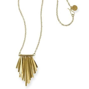 Nairobi Long Brass Necklace