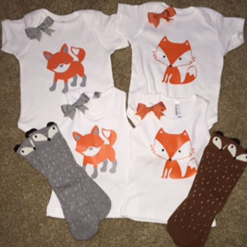 Fox Onesuit - Fox Tank - Girl Onesuit  - Childrens Clothing  - Ruffles with Love - Baby Clothing - RWL Kids