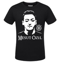 O Neck Short Sleeve T Shirt Men 100% Cotton T-Shirt Mens Arsenal Mesut Ozil Summer Plus Size Teenagers Tees Brand Clothing A1444