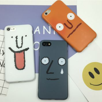 Fashion funny face plastic Case Cover for Apple iPhone 5s 5 6 Plus 6 -05011