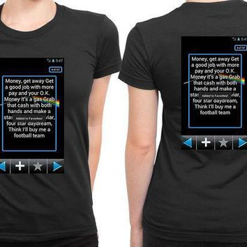 Pink Floyd Quote Screenshoot Plus 2 Sided Womens T Shirt